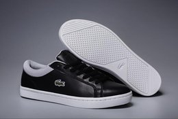 2019 zapatillas de piel de cocodrilo para hombre Nuevo diseñador Low Top All Red Leather Crocodile Embroidery Zapatos casuales de los hombres de moda Negro Blanco Sneakers para hombres No Box zapatillas de piel de cocodrilo para hombre baratos