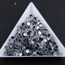 2019 vidro dmc DMC moda de alta qualidade plano rodada de vidro semi-circular reparação de calor strass DIY telefone móvel / acessórios de arte do prego vidro dmc barato