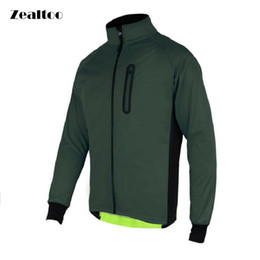 Wholesale Mens Cycling Jacket Xl - Zealtoo Mens Ropa Ciclismo Cycling Jackets Windproof Waterproof Coat Keep Warm Green blue Spring Autumn Winter Cycling Clothing