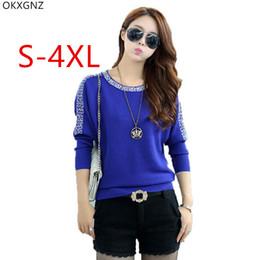 688da64014 2018 camisola azul de cashmere Novas Mulheres Coreanas Bat Sleeve  PulloverLoose Tamanho Grande Assentamento Camisolas Cashmere