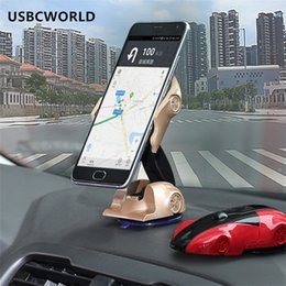 Wholesale Rotary Holder - Magnetic Universal Phone Holder Car Dashboard Adjustable Rotary Navigation 360 Rotate Magnet Car Model Phone Holder