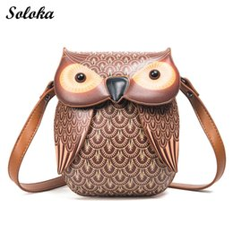 Wholesale Wholesale Bags Purses Owl - 2017 New Cute Owl Shoulder Bag Purse Handbag Women Messenger Bags FOR Summer Girls Cartoon with Crossbody Phone Bag Owl