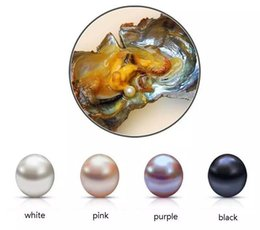 Wholesale Loose Black Pearls Wholesale - Oval Oyster Pearl 2018 new 6-8mm 4 mix color Fresh water Natural pearl Gift DIY Loose Decorations Vacuum Packaging in stock