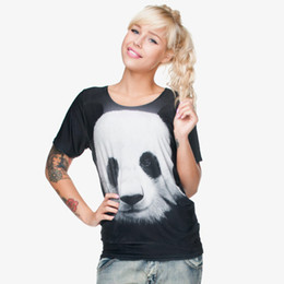 girls graphic tees Promo Codes - Women T-shirt Panda 3D Full Print Girl Free Size Stretchy Casual Tops Lady Short Sleeves Digital Graphic Tee Shirt Blouse (GL28838)