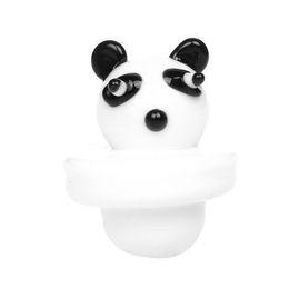 2019 pipa de fumar panda Dogo para fumar Color sólido Panda blanco Cúpula de vidrio Carb Cap para bongs de vidrio tuberías de agua, plataformas de aceite de dab, Thermal P Quartz banger Nails pipa de fumar panda baratos
