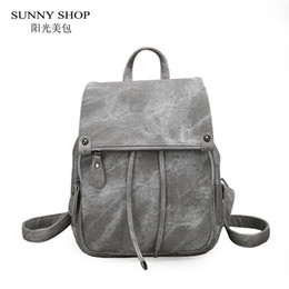 10a245e6a90f SUNNY SHOP Vintage Casual Preppy Solid Women Drawstring Backpack Girls  School Rucksack Matte PU Leather A4 Book Daypack Pink
