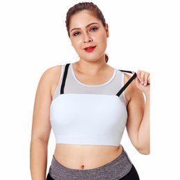75ced9d71ef3e HANQING Women White Breathable XL Yoga Bra Sleeveless Grid Hollow Stitching  Underwear Sexy Beauty Back Gather Sports Yoga Vest