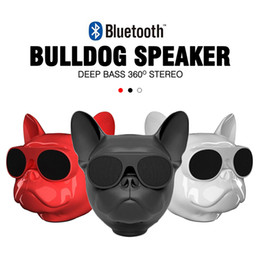 Wholesale active subwoofer speakers - Aero bull dog Nano Bluetooth Speakers Portable Wireless Speaker Bulldog Outdoor Bass Loudspeaker Touch Control Support TF card