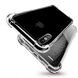 Wholesale galaxy x cover - Air Cushion Shockproof Ultra Thin Slim Transparent Clear Soft TPU Silicone Cover Case For iPhone X 8 7 Plus 6 6S Samsung Galaxy S9 S8 Note 8