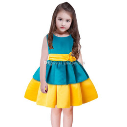 хлопок детские халаты Скидка 2018 новый ребенок пачка кекс платье хлопок Принцесса платья лето Детская одежда девушки бальное платье C3369
