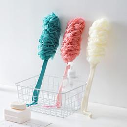2019 appareil de massage Cheveux doux frotter brosse brosse arrière balle de bain adulte manche long frotter brosse de bain appareils de bain montrant appareils et outils