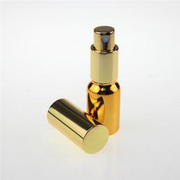 Canada 100pcs haute qualité fine brume d'or 10 ml mini verre vaporisateur flacons de parfum, vide 10 ml bouteilles de vaporisateur en verre à vendre Offre
