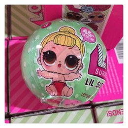 Wholesale Baby Bottle Wholesalers - LOL Surprise Dolls Series 2 Lil Sisters Ball Dress Up Toys Christmas Gift For Girls Unpacking Doll Surprise Ball IMMEDIATELY DELIVERY