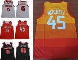 Wholesale cardinals red - Louisville Cardinals College Donavan Mitchell Red White Black Jerseys Edition Version Orange Mitchell Men Jersey High Quality S-XXL