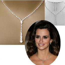 Wholesale foreign bride - whole saleLow - Cost Promotional Foreign Trade Bursts Europe And The United States Simple Bride Necklace Ear Pin Set Sets Of Wed