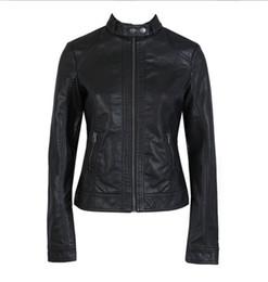 Deutschland 2018 Mode Neue Damen Jacke European Fashion Lederjacke Pimkie Reinigung Einzelnes PU Leder Motorrad Frauen Weiß XXXL Versorgung