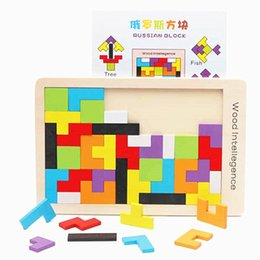 Wholesale puzzle games girls - Wooden Tangram Brain Teaser Puzzle Toys Tetris Game Girls Boys Preschool Magination Intellectual Educational Kid Gift Funny gadgets