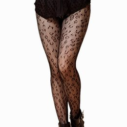 Wholesale Panty Designs - Women Fishnet Stockings Hollow Sexy Pantyhose Leopard Design Thin Slim Fishnet Women Tights Stocking Elastic Black Panty Hose