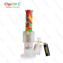 Wholesale bowl prices - Bong Platinum Cured Silicone Glass Bongs Waxmaid High-End 2 Layer Percs Water Pipes With Bowl Factory Price DHL Free Shipping