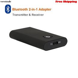 2019 aparelhos de som baratos Hifi Bluetooth 4.1 Transmissor Receptor de Música de Áudio 2-em-1 Sem Fio 3.5mm Adaptador Para Televisão CD Player MP3 Frete Grátis