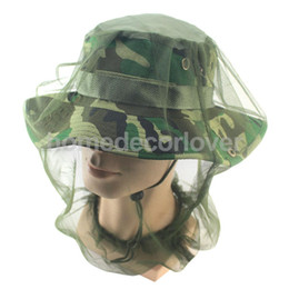 Wholesale Bug Hats - Camouflage Mosquito Bug Insect Net Bee Mesh Head Face Protect Fishing Hat