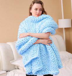 2020 merino lã tricô New alta qualidade Super Chunky Merino Wool Yarn gigante Roving Lãs de giro para Arm Knitting Blanket Camisolas Cachecóis Picnic desconto merino lã tricô