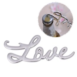 Wholesale Music Gifts For Wedding - New Love Forever 8 Shaped Music Bottle Opener for Wedding Favors Alloy Silver Beer Bottle Openers Event Party Gifts