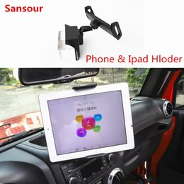 телефон gps держатель интерьер Скидка ABS Car Interior GPS IPad/Mobile Phone Holder Stand Adjustable Mount Sticker For  Wrangler 2011-2018 Car Styling Sansour