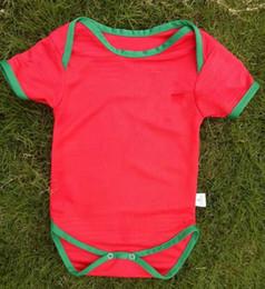 Wholesale Football Jerseys Babies - 2018 World Cup RONALDO Baby soccer Jersey Portugal red NANI J. MOUTINHO MIGUEL COENTRAO PEPE Baby Football uniforms 2018 Baby Shirts