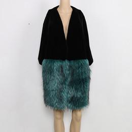 Wholesale Winter Furry Jacket - Nerazzurri Brand Women Faux Fur Jacket V-Neck Loose Oversized Winter Furry Long Luxury Fake Fur Coats Plus Size 5xl 6xl 7xl