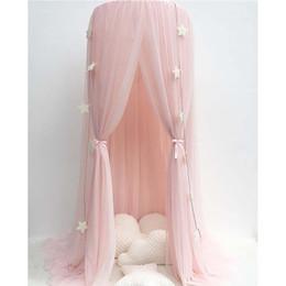 2019 ropa de cama princesa moderna Baby Lace Crib Tent Round Dome cortina colgante Mosquito Net Kids Room Decor