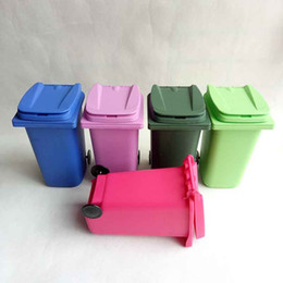 recycled pen wholesaler Coupons - Big Mouth Toys Mini Trash Pencil holder Recycle Can Case Table Pen Plastic Storage Bucket Stationery Sundries Organizer Tools 5 color choose