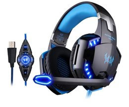 Kopfhörer 7.1 vibration online-JEDER G2200 USB 7.1 Surround Sound Vibration Spiel Gaming Kopfhörer Computer Headset Kopfhörer Stirnband mit Mikrofon LED-Licht