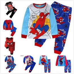 2018 пижамы наборы девочка и мальчики одежда сладкие мечты пижамы детская одежда набор мультфильм костюм хлопок пижамы мальчиков наборы A52 от