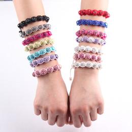 Wholesale Porcelain Child - shamballa kids high quality CZ crystal disco ball Children 20pcs bracelets