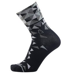 Wholesale grey wool socks - Outdoor Sports Socks Middle Length Cycling Designer Sock Male Female High Elastic Force Portable Foldable Bicycle Hosiery 12nc cc