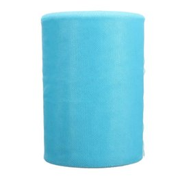 """Wholesale Blue Tulle Rolls - Wholesale- Soft 6""""x100yd Tulle Roll Spool Wedding Craft Bridal Wrap Party Decor 6""""x300' Light Blue"""