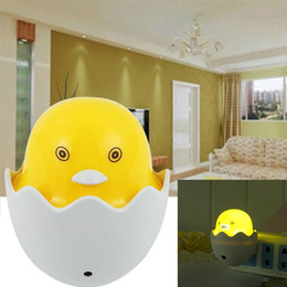 Wholesale plastic ducks - Yellow Duck LED Night Light Auto Control Lamp Kid Room Beside Lights Children Nursery Baby Safety DDA680 Novelty Items