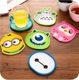 Wholesale Mug Heating Pad - Wholesale- New Silicone Heat-resistant dining Table Placemat Cup Mat Coffee Drink Mug Coasters insulation pad Kitchen Accessories