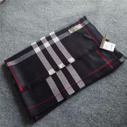 Wholesale scarf cotton pashmina - Top qualtiy cotton Luxury Brand Scarf women Brand Scarves brand Plaid letter pattern print design Scarf women Shawls size 180x70cm A-998