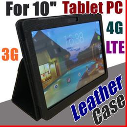 "Telefones octa core china on-line-Capa de couro para 10 ""10.1 polegadas 2019 MTK6572 MTK6582 MTK6589 MTK6592 MTK6737 telefone tablet 3G 4G LTE Octa Core 4GB 64GB tablet PC case I-PT"