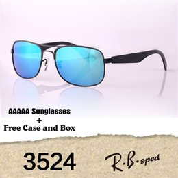 Wholesale Flash Drive Boxes - Brand Designer Polarized aviator Sunglasses Men Women High Quality Flash Mirrored polaroid Lens sport driving glasses with cases and box