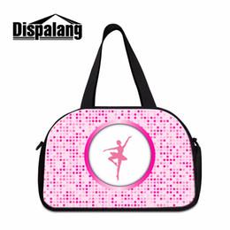 Wholesale Girls Pink Ballet Bag - Dispalang Shoulder Travel Bag for Women Pink Ballet Girls Large Duffle Bag Sporty for Teenagers Art Tourist Women