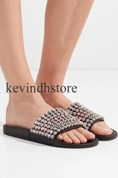 Wholesale New Style Sandals For Women - new style 2018 fashion slide sandals for man and women summer outdoor beach slippers with crystals