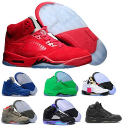 Wholesale Premium White - Hot 5 Basketball Shoes Mens Women 5s V Red Suede Olympic Grape Cement Stars Take Flight Premium Pinnacle Trophy Room Athletic Shoe Sneakers