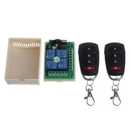 Canada 12V 4CH Canal Relais sans fil Télécommande RF Commutateur 2 Émetteur + Récepteur supplier 4ch rf remote control Offre
