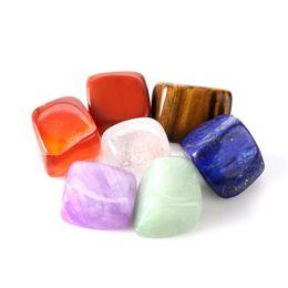 Deutschland Natürlicher Edelstein-Mischstein-Regenbogen-bunter Felsen-Mineralachat für das Chakra, das Reiki heißes Verkauf 6 8cm Ykk heilt Versorgung