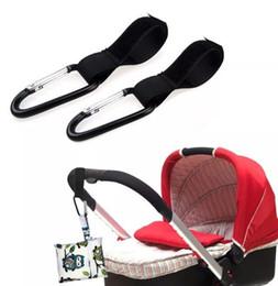 Wholesale Baby Clip Hangers - Baby Pushchair Stroller Clip Hook black By Pram Carabiner Diaper Bag Hanger Black Baby Stroller Hook Clips FFA055 200PCS
