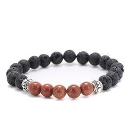 Wholesale Womens Chain Bracelets - Volcanic stone bracelets weathering agate stone matte yoga set Buddha Beads Bracelet mens Bracelets Ethnic Tiger Eye Stone womens Jewelry