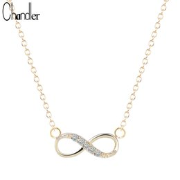 Wholesale Eternal Love Necklace - Chandler Silver Love Plated Number 8 Endless CZ Necklace & Pendant For Women Forever Eternal Friendship Infinity Fashion Jewelry